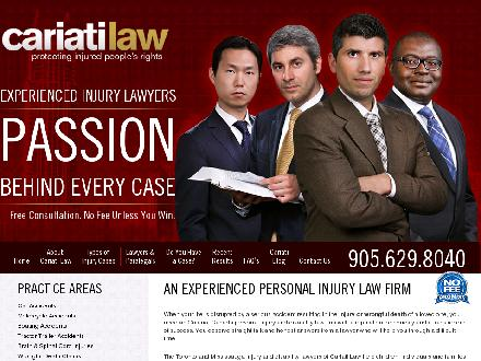 Cariati Law Professional Corporation (905-629-8040) - Onglet de site Web - http://thepersonalinjurylawyers.ca