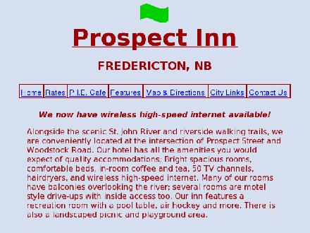 Prospect Inn Fredericton (1-800-250-4322) - Website thumbnail - http://www.prospectinn.ca
