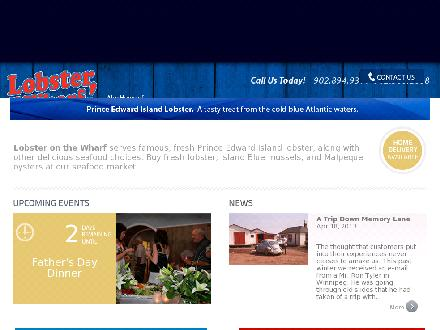 Lobster On The Wharf Restaurant (902-368-2888) - Website thumbnail - http://www.lobsteronthewharf.com