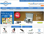 Princessauto.com - Onglet de site Web - http://www.princessauto.com