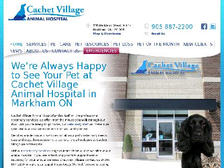 Cachet Village Animal Hospital (905-887-2200) - Onglet de site Web - http://www.cachetvillageanimalhospital.com