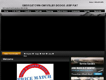 Georgetown Chrysler Dodge Jeep Fiat Ltd (289-349-0445) - Onglet de site Web - http://www.georgetownchrysler.ca