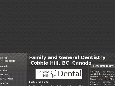 Cobble Hill Dental (250-743-6698) - Website thumbnail - http://www.cobblehilldental.com