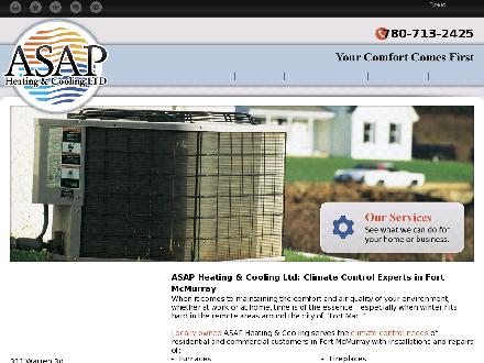 ASAP Heating & Cooling Ltd (780-588-5383) - Website thumbnail - http://asapheatcool.ca