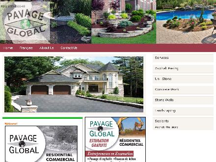 Pavage Global Inc (514-694-3600) - Onglet de site Web - http://www.pavageglobal.com