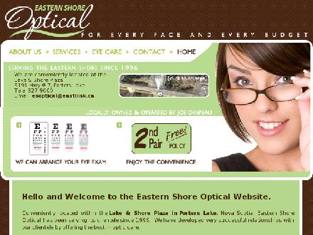 Eastern Shore Optical (902-827-9000) - Website thumbnail - http://www.easternshoreoptical.com