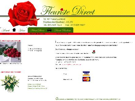 Fleuriste Direct (819-416-0792) - Onglet de site Web - http://www.fleuristedirect.com