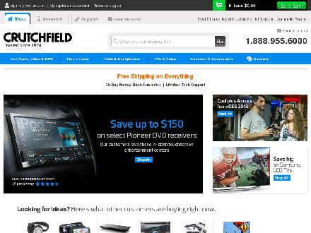 crutchfield.com - Website thumbnail - http://www.crutchfield.com