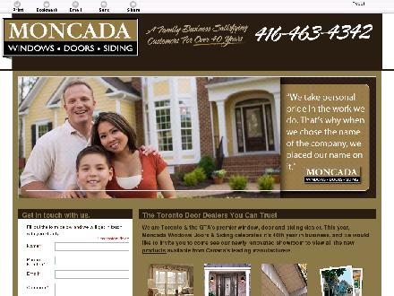 Moncada Windows Doors & Siding (416-463-4342) - Onglet de site Web - http://moncadawindows.com/