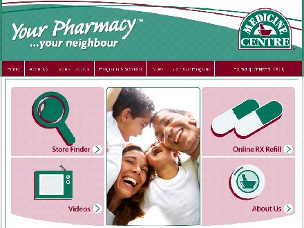 Central Drugs (250-758-7711) - Website thumbnail - http://www.medicinecentre.com