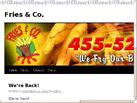 Fries And Co (902-455-5250) - Onglet de site Web - http://www.friesnco.com