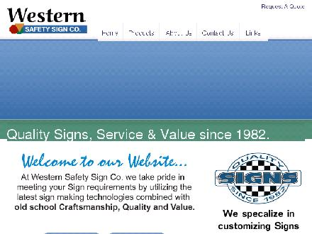 Western Safety Sign (1982) Co Ltd (204-231-0213) - Onglet de site Web - http://www.westernsafetysign.com