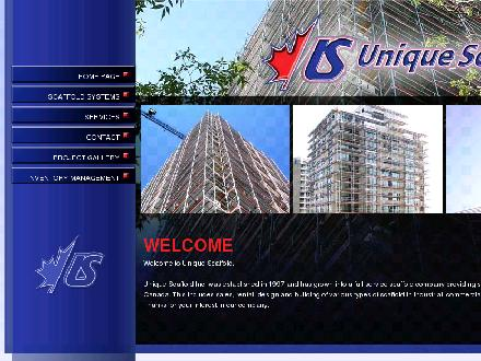 Unique Scaffold Inc (403-203-3422) - Website thumbnail - http://www.uniquescaffold.com