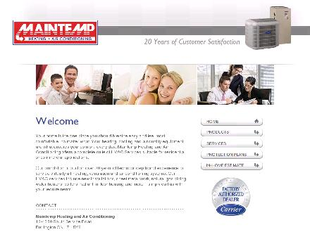 Maintemp Heating & Air Conditioning (905-681-1515) - Onglet de site Web - http://www.maintemp.ca