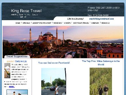 King Rose Travel (905-544-5580) - Onglet de site Web - http://www.kingrosetravel.com