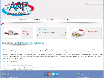 A & P Cleaning Solutions (403-343-8501) - Website thumbnail - http://www.apcleaning.ca