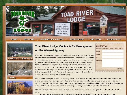 Toad River Lodge Ltd (250-232-5401) - Website thumbnail - http://www.toadriverlodge.com