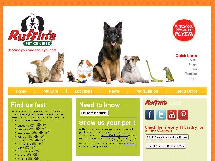 Ruffin's Pet Centre (519-325-1112) - Website thumbnail - http://www.ruffinspet.com