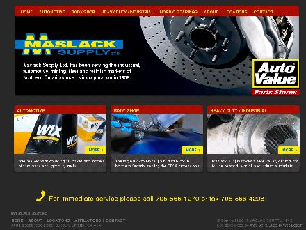 Maslack Supply Ltd (705-495-1155) - Website thumbnail - http://www.maslack.com