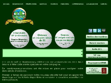 Club de Golf Le Montmorency Inc (418-661-8712) - Onglet de site Web - http://www.golflemontmorency.com