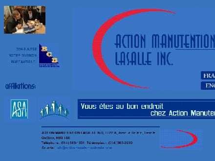 Action Manutention Lasalle Inc (514-363-1531) - Website thumbnail - http://www.actionmanutentionlasalle.com