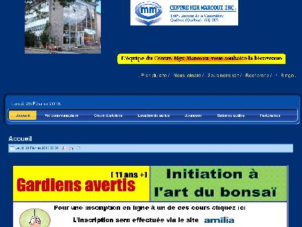 Centre Mgr Marcoux (418-661-7766) - Onglet de site Web - http://www.centremgrmarcoux.com