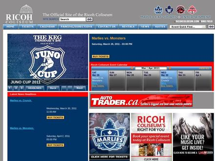 Ricoh Coliseum (416-263-3900) - Website thumbnail - http://www.ricohcoliseum.com