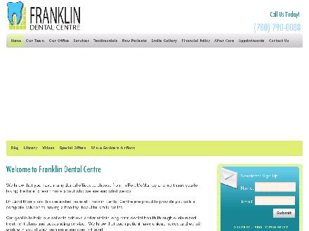 Franklin Dental Centre (780-792-0970) - Onglet de site Web - http://www.fortmcmurraysmiles.com