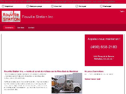 Rouville Station Inc (450-658-2183) - Website thumbnail - http://rouvillestation.com/