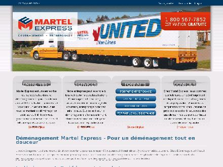 D&eacute;m&eacute;nagement &amp; Entreposage Martel Express (819-378-2747) - Website thumbnail - http://www.demenagementmartel.com