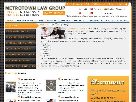 Metrotown Law Group (604-696-8981) - Website thumbnail - http://www.metrotownlawgroup.com