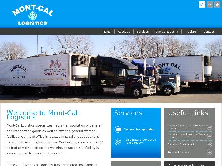 Mont-Cal Logistics Inc / Transport Canada - USA (514-366-1020) - Onglet de site Web - http://www.montcal.ca