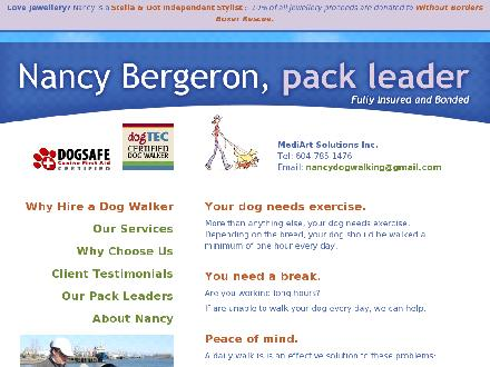 Richmond Dog Walking (604-785-1476) - Website thumbnail - http://www.richmonddogwalking.com