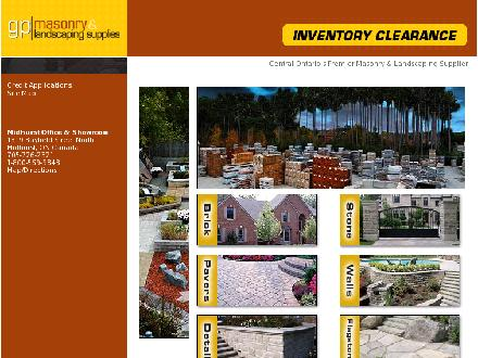 GP Masonry And Landscaping Supplies (705-726-2321) - Website thumbnail - http://www.gpmasonry.ca
