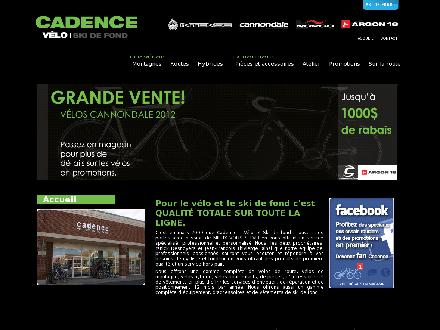 Cadence V&eacute;lo et Ski de Fond (450-482-0617) - Onglet de site Web - http://www.cadencebicycles.com