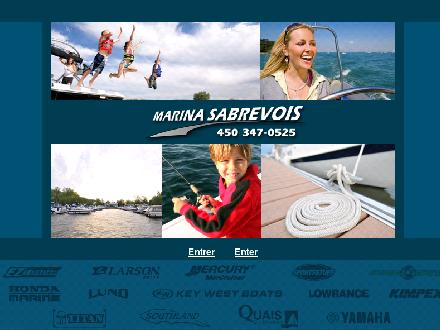 Marina Sabrevois Inc (450-347-0525) - Onglet de site Web - http://www.marinasabrevoisinc.com