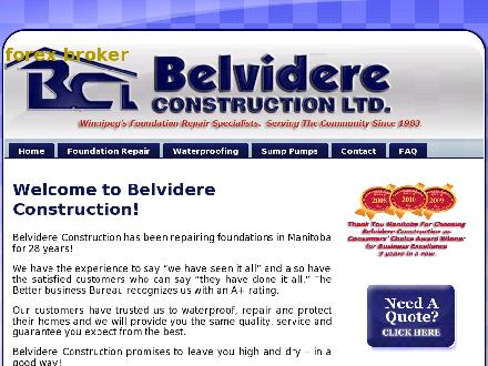 Belvidere Construction Ltd (204-515-1113) - Onglet de site Web - http://www.belvidereconstruction.com