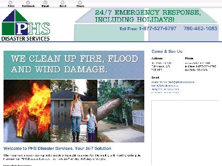 Phs Disaster Services (780-401-9596) - Website thumbnail - http://www.phsdisaster.com