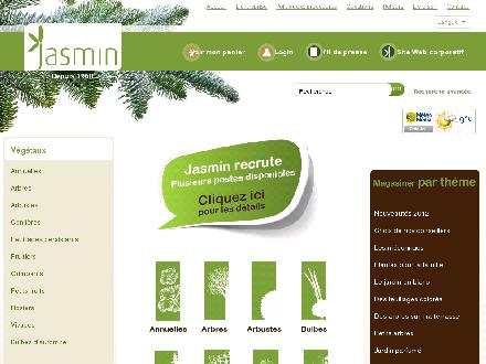 P&eacute;pini&egrave;re Jasmin (514-332-2978) - Website thumbnail - http://www.jardinjasmin.com