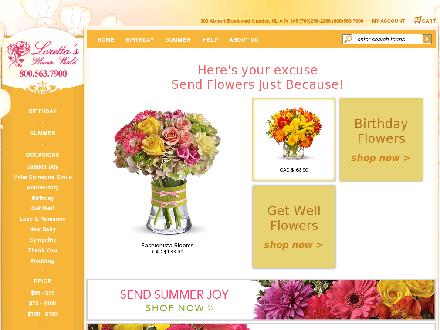 Loretta's Flower World (709-256-2266) - Website thumbnail - http://www.ganderflowers.com