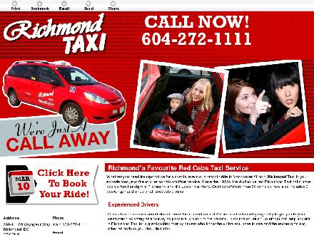 Richmond Cabs Ltd (604-272-1111) - Website thumbnail - http://www.richmondtaxi.ca