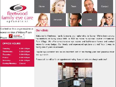 Fleetwood Family Eye Care (604-597-7793) - Onglet de site Web - http://www.fleetwoodfamilyeyecare.com