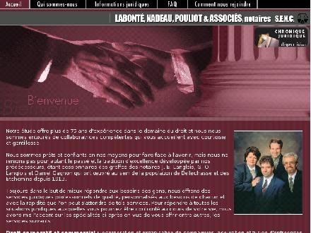 Nadeau Patrice (418-885-9850) - Website thumbnail - http://www.notaires-etchemins.com