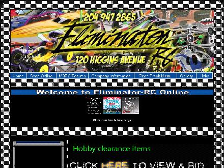 Eliminator-RC (204-947-2865) - Website thumbnail - http://www.eliminator-rc.com