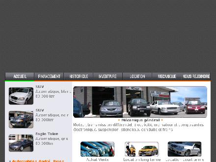 Automobile André Boies Inc (418-529-2601) - Onglet de site Web - http://www.autoboies.com