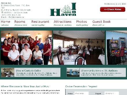 Haven Inn (709-454-9100) - Onglet de site Web - http://www.haveninn.ca