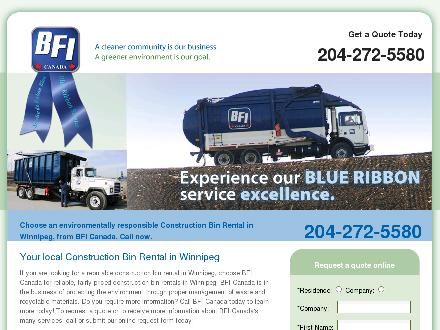 BFI Canada Inc (204-633-9730) - Onglet de site Web - http://local.bficanada.com/construction-bin-rental/MB/Winnipeg