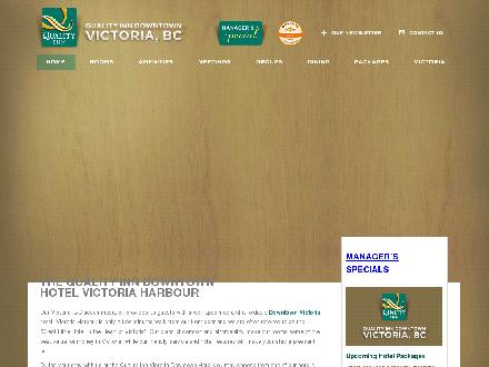 Quality Inn Downtown Inner Harbour (250-385-6787) - Website thumbnail - http://www.victoriaqualityinn.com