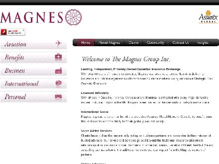 Magnes Group Inc The (905-845-9793) - Onglet de site Web - http://www.magnesgroup.com