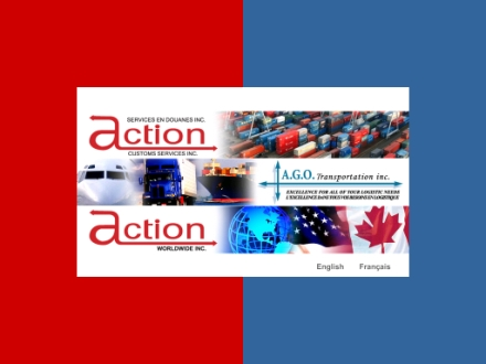 Action Services en Douanes Inc (514-631-6663) - Onglet de site Web - http://www.actionago.com